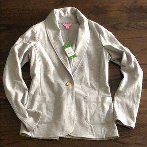 Lilly Pulitzer shawl cardigan grey medium
